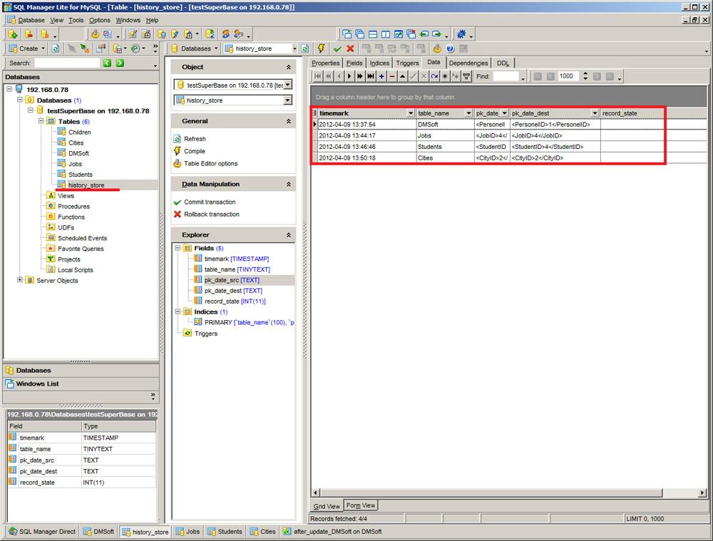Trigger-based database synchronization – DBConvert