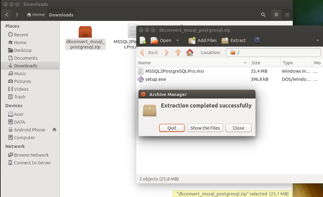 Is your tool compatible with Linux? – DBConvert